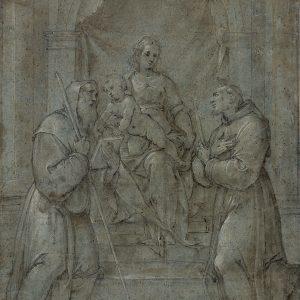 La Vierge à l'Enfant entourés de saint Benoît et saint François