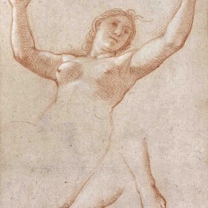 Study of the Bust of a Woman with her Arms Raised and of her Feet