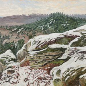 Restant du Long Rocher sous la neige