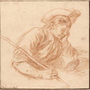 Study of  a young Shepherd sleeping