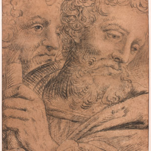 Study of Two Male Heads: Preparatory for the Triptych of the