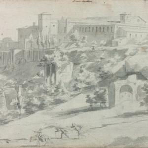 Vue du Mont Aventin avec le couvent de la basilique Sainte-Sabine à Rome