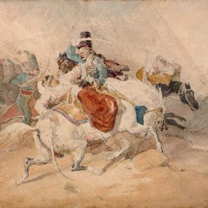 Choc de Cavalerie: combat de hussards et de mamelouks pendant la campagne d'Égypte