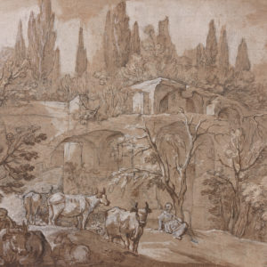 Landscape with Ruins, Figures, and Animals
